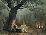 The Sacred Grove of the Druids, from the opera 'Norma' by Vincenzo Bellini Fine Art Print by French School