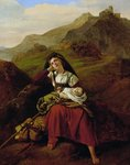 The Unhappy Mother, 1834 (oil on canvas) Postcards, Greetings Cards, Art Prints, Canvas, Framed Pictures, T-shirts & Wall Art by Sir Joseph Noel Paton