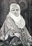 'La Favorita'- Woman with a Veil (engraving) Fine Art Print by Antonio de Dominici