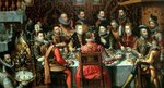 The Banquet of the Monarchs, c.1579 (oil on canvas) Postcards, Greetings Cards, Art Prints, Canvas, Framed Pictures, T-shirts & Wall Art by Martin II Mytens or Meytens
