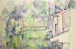 Mill on the River, 1900 (w/c on paper) Postcards, Greetings Cards, Art Prints, Canvas, Framed Pictures, T-shirts & Wall Art by Paul Cezanne