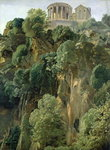 The Temple of Vesta and the Sibyls at Tivoli, 1834 (oil on paper on board) Wall Art & Canvas Prints by Rudolph von Alt
