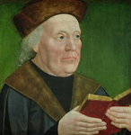 Mayor Hermann Langenbeck, c.1515 (oil on oak panel) Fine Art Print by Lorenzo Lotto