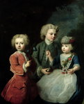The Children of Councillor Barthold Heinrich Brockes (1680-1747) (oil on canvas)