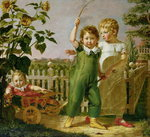The Hulsenbeck Children, 1806 (oil on canvas) Wall Art & Canvas Prints by French School