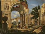 Landscape with Ruins, 1673 (oil on canvas) Fine Art Print by Willem Romeyn