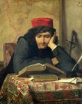 The Reader, 1856 (oil on canvas) Fine Art Print by William Henry Hunt