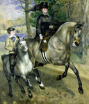 Horsewoman in the Bois de Boulogne, 1873 (oil on canvas) Wall Art & Canvas Prints by Gustave Caillebotte