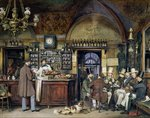The Greek Cafe in Rome, 1856 (w/c on paper) Fine Art Print by Carmontelle