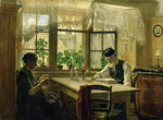 A Peaceful Sunday, 1876 (oil on canvas) Wall Art & Canvas Prints by Anonymous