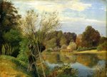 Near the Aumuhle, c.1830 (oil on paper mounted on card) Fine Art Print by John Edwin Noble