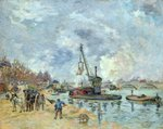 At the Quay de Bercy in Paris, 1874 (oil on canvas) Fine Art Print by Paul Cezanne
