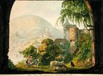 The Four Castles of Neckar Steinach (w/c on paper) Wall Art & Canvas Prints by Willem Romeyn