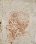 Caricature Head Study of an Old Man, c.1500-05 Fine Art Print by Antonio Pisanello
