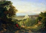 View of Terracina and Monte Circeo, 1833 Fine Art Print by August Wilhelm Julius Ahlborn