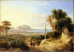 View of Palermo, 1840 Fine Art Print by August Wilhelm Julius Ahlborn