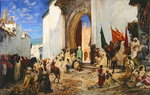 Entry of the Sharif of Ouezzane into the Mosque, 1876 (oil on canvas) Wall Art & Canvas Prints by Ferdinand Victor Eugene Delacroix