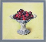 Dessert Bowl with Plums, 1990 Postcards, Greetings Cards, Art Prints, Canvas, Framed Pictures, T-shirts & Wall Art by William Henry Hunt