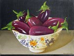 Eggplants, 1993 Postcards, Greetings Cards, Art Prints, Canvas, Framed Pictures, T-shirts & Wall Art by Norman Hollands
