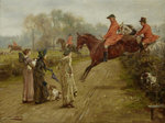 Watching the Hunt, 1895 (oil on panel) Fine Art Print by Mary Stuart