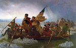 Washington Crossing the Delaware River, 25th December 1776, 1851 (oil on canvas) (copy of an original painted in 1848) Postcards, Greetings Cards, Art Prints, Canvas, Framed Pictures & Wall Art by Emanuel Gottlieb Leutze
