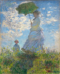 Woman with a Parasol - Madame Monet and Her Son, 1875 (oil on canvas) Fine Art Print by Claude Monet