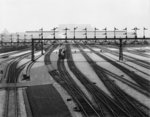 Switch yards, Union Station, Washington, D.C., c.1907-10 (b/w photo) Fine Art Print by N. and Ives, J.M. Currier