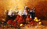 Still life of flowers and fruit (oil on canvas) Wall Art & Canvas Prints by William Henry Hunt