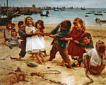 Tug of War, 1891 Fine Art Print by Pedro Nunez de Villavicenzio