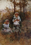 In the Woods (w/c on paper) Fine Art Print by William Henry Hunt