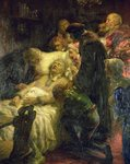 Luther Death Scene Fine Art Print by Eduard Schoen