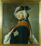 Frederick II the Great of Prussia (oil on panel) Wall Art & Canvas Prints by Georg Wenceslaus von Knobelsdorff