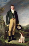 An Unknown Man With his Dog, 1815 (oil on canvas) Fine Art Print by English Photographer