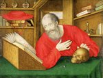 St. Jerome in his Study, 1650 (bodycolour and w/c on vellum) Fine Art Print by William Henry Hunt