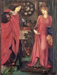 Fair Rosamund and Queen Eleanor (mixed media on paper) Fine Art Print by Evelyn De Morgan