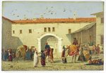 Caravanserai at Mylasa, Turkey, 1845 (oil on panel) Postcards, Greetings Cards, Art Prints, Canvas, Framed Pictures, T-shirts & Wall Art by Carl Haag