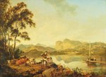 Langdale Pikes from Lowood, c.1800-06 (oil on canvas) Fine Art Print by South African School