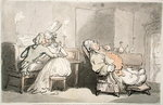The Music Master, from 'Scenes at Bath' (w/c & pen and ink on paper) Fine Art Print by Thomas Rowlandson