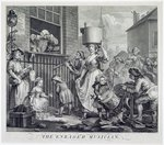 The Enraged Musician, 1741 (engraving) Wall Art & Canvas Prints by William Hogarth