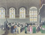 Court of Chancery, Lincoln's Inn Hall, engraved by Constantine Stadler (fl.1780-1812), 1808 (coloured aquatint) Wall Art & Canvas Prints by Miller