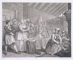 A Harlot's Progress, plate IV, from 'The Original and Genuine Works of William Hogarth', published in London, 1820-22 (engraving) Postcards, Greetings Cards, Art Prints, Canvas, Framed Pictures & Wall Art by William Hogarth