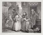 A Harlot's Progress, plate I, from the 'Original and Genuine Works of William Hogarth', published in London, 1820-22 (engraving) Wall Art & Canvas Prints by William Hogarth