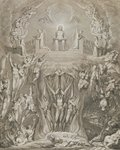The Day of Judgement, pl.9, from 'The Grave, A Poem' by William Blake (1757-1827), engraved by Luigi Schiavonetti (1765-1810), 1808 (etching) Fine Art Print by Jan II Provost
