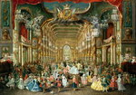 Masked Ball in the Hoftheater, Bonn, 1754 Fine Art Print by Charles Albert Pesnelle