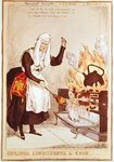 Coplinda Lindhursta the Cook, no.6 from the series 'Household Servants', published in 1829 (coloured engraving) Fine Art Print by James Gillray