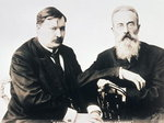 Photograph of Glazunov and Rimsky-Korsakov (b/w photo) Wall Art & Canvas Prints by Ferdinand Theodor Hildebrandt