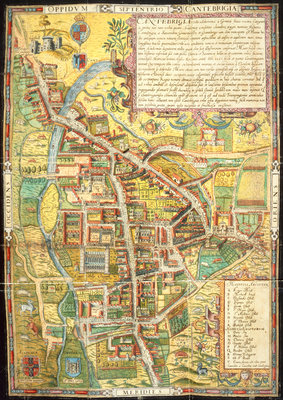 A street map of Cambridge by Anonymous - print