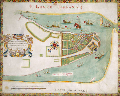 Map of New York or New Amsterdam by Anonymous - print