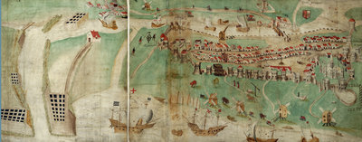 Picture map of Great Yarmouth by Petrus - print