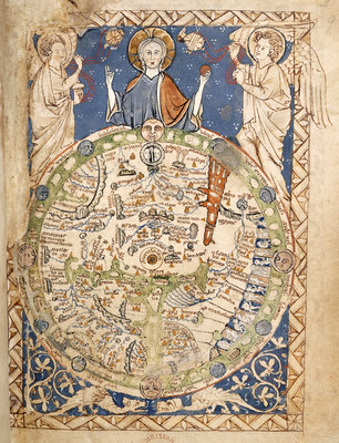 Psalter World Map by Anonymous - print